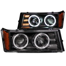 AnzoUSA 111079 Projector Headlights with Halo Black