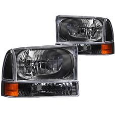 AnzoUSA 111080 Crystal Headlights Black