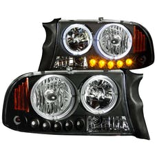 AnzoUSA 111085 Crystal Headlights Black 1pc
