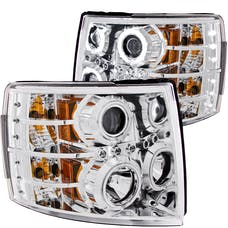 AnzoUSA 111086 Projector Headlights with Halo Chrome
