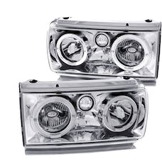 AnzoUSA 111092 Crystal Headlights with Halo Chrome