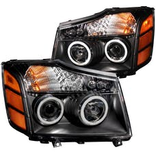AnzoUSA 111095 Projector Headlights with Halo Black (SMD LED)