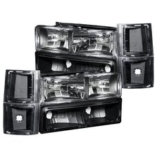 AnzoUSA 111100 Crystal Headlights Black