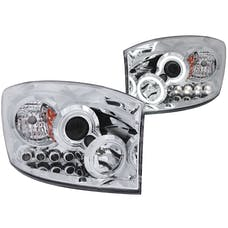 AnzoUSA 111103 Projector Headlights with Halo Chrome (SMD LED)