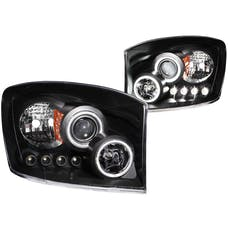 AnzoUSA 111104 Projector Headlights with Halo Black (SMD LED)