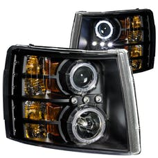 AnzoUSA 111107 Projector Headlights with Halo Black