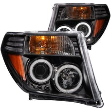 AnzoUSA 111111 Projector Headlights with Halo Black