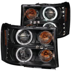 AnzoUSA 111125 Projector Headlights with Halo Black