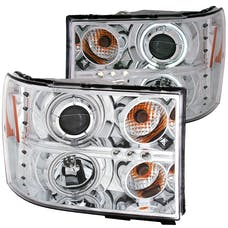 AnzoUSA 111126 Projector Headlights with Halo Chrome