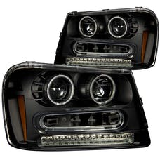 AnzoUSA 111127 Projector Headlights with Halo Black
