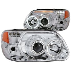 AnzoUSA 111133 Projector Headlights with Halo Chrome 1 pc