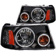 AnzoUSA 111152 Crystal Headlights with Halo Black (SMD LED) 1 pc