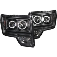 AnzoUSA 111161 Projector Headlights with Halo Black (SMD LED)