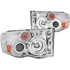 AnzoUSA 111165 Projector Headlights with Halo Chrome (SMD LED) G2