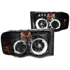 AnzoUSA 111166 Projector Headlights with Halo Black (SMD LED) G2