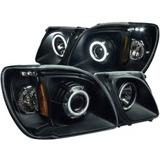 AnzoUSA 111170 Projector Headlights with Halo Black (SMD LED)