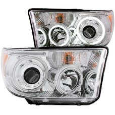 AnzoUSA 111173 Projector Headlights with Halo Chrome (SMD LED)