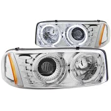 AnzoUSA 111191 Projector Headlights with Halo Chrome