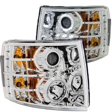 AnzoUSA 111199 Projector Headlights with Halo Chrome