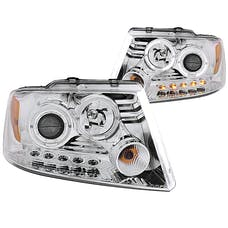 AnzoUSA 111203 Projector Headlights with Halo & LED Chrome G2