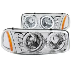 AnzoUSA 111208 Crystal Headlights with Halo & LED Chrome