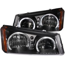 AnzoUSA 111212 Crystal Headlights with Halo Black