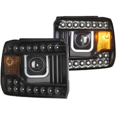 AnzoUSA 111316 Projector Headlights with U-Bar Black