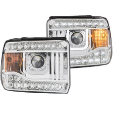 AnzoUSA 111317 Projector Headlights with U-Bar Chrome