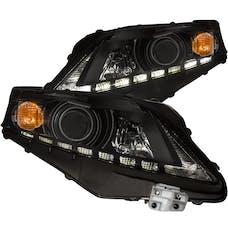 AnzoUSA 111322 Projector Headlights with U-Bar Black