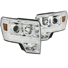 AnzoUSA 111352 Projector Headlights with U-Bar Chrome Amber (HID type) (without HID kit)