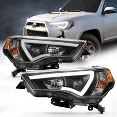 Anzo USA 111416 Projector Headlights with Plank Style Switchback Black with Amber