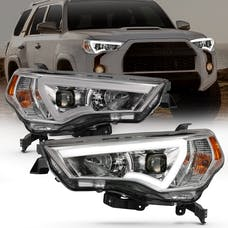 Anzo USA 111417 Projector Headlights with Plank Style Switchback Chrome with Amber