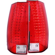 AnzoUSA 311190 LED Taillights Red/Clear - Escalade Look