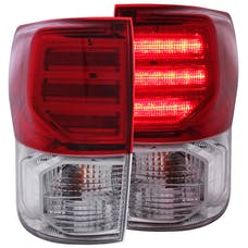 AnzoUSA 311204 LED Taillights Red/Clear G2