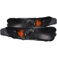 AnzoUSA 511002 Euro Parking Lights Black with Amber Reflector