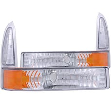 AnzoUSA 511039 Euro Parking Lights Chrome with Amber Reflector