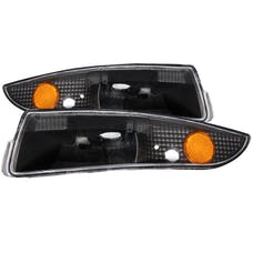 AnzoUSA 511045 Euro Parking Lights Black with Amber Reflector