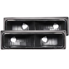 AnzoUSA 511053 Euro Parking Lights Black