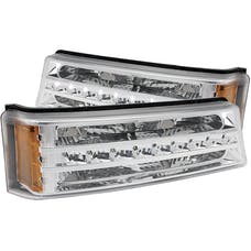 AnzoUSA 511066 LED Parking Lights Chrome with Amber Reflector