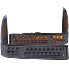 AnzoUSA 511072 LED Parking Lights Smoke with Amber Reflector