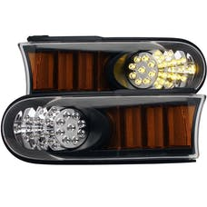 AnzoUSA 511078 LED Parking Lights Black with Amber Reflector