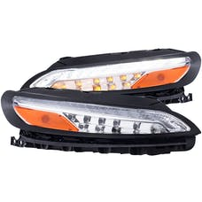 AnzoUSA 511081 - JEEP CHEROKEE 14-18 L.E.D PARKING/SIGNAL LIGHTS ALL CHROME AMBER