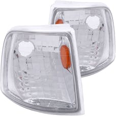 AnzoUSA 521017 Euro Corner Lights Chrome with Amber Reflector