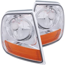 AnzoUSA 521026 HARLEY - DAVIDSON® Style Corner Lights Chrome with Amber Reflector