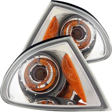AnzoUSA 521027 Euro Corner Lights Chrome with Amber Reflector
