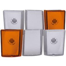 AnzoUSA 521032 Euro Corner Lights 4 Crystal Chrome & 2 Crystal Amber 6pc