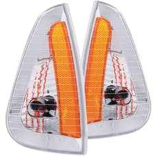 AnzoUSA 521034 Euro Corner Lights Chrome with Amber Reflector
