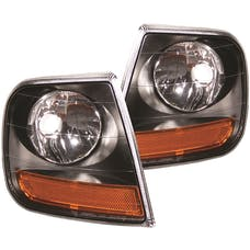 AnzoUSA 521040 HARLEY - DAVIDSON® Style Corner Lights Black with Amber Reflector