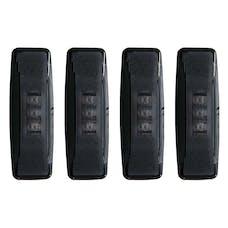 AnzoUSA 861089 LED Fender Light Kit Smoke 2pc Amber / 2pc Red
