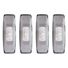 AnzoUSA 861090 LED Fender Light Kit Clear 2pc Amber / 2pc Red